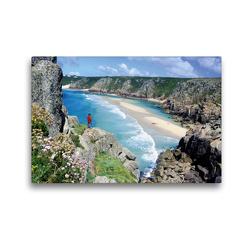 Premium Textil-Leinwand 45 x 30 cm Quer-Format Sagenumwobenes Cornwall – Klippen, blaues Meer, ein Paradies im Südwesten von England | Wandbild, HD-Bild auf Keilrahmen, Fertigbild auf hochwertigem Vlies, Leinwanddruck von CALVENDO