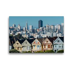 Premium Textil-Leinwand 45 x 30 cm Quer-Format San Francisco | Wandbild, HD-Bild auf Keilrahmen, Fertigbild auf hochwertigem Vlies, Leinwanddruck von Stefan Becker