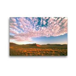 Premium Textil-Leinwand 45 x 30 cm Quer-Format Sand dunes, Sossusvlei, Namib Naukluft Park, Namibia | Wandbild, HD-Bild auf Keilrahmen, Fertigbild auf hochwertigem Vlies, Leinwanddruck von Christian Heeb