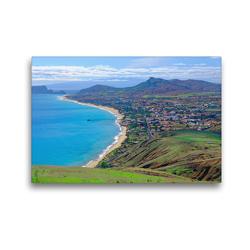 Premium Textil-Leinwand 45 x 30 cm Quer-Format Sandstrand Vila Baleira   Wandbild, HD-Bild auf Keilrahmen, Fertigbild auf hochwertigem Vlies, Leinwanddruck von Klaus Lielischkies
