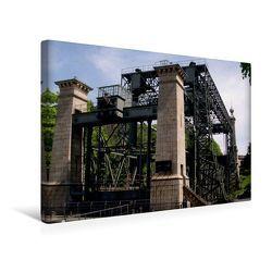 Premium Textil-Leinwand 45 x 30 cm Quer-Format Schiffshebewerk | Wandbild, HD-Bild auf Keilrahmen, Fertigbild auf hochwertigem Vlies, Leinwanddruck von Uwe Bernds von Bernds,  Uwe
