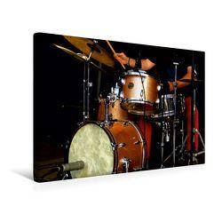 Premium Textil-Leinwand 45 x 30 cm Quer-Format Schlagzeug | Wandbild, HD-Bild auf Keilrahmen, Fertigbild auf hochwertigem Vlies, Leinwanddruck von Renate Bleicher von Bleicher,  Renate