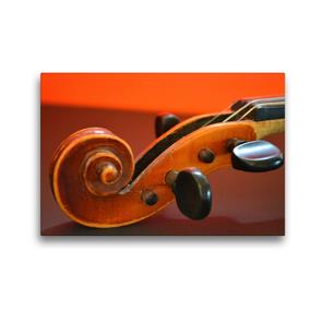 Premium Textil-Leinwand 45 x 30 cm Quer-Format Schnecke einer Geige | Wandbild, HD-Bild auf Keilrahmen, Fertigbild auf hochwertigem Vlies, Leinwanddruck von Renate Bleicher