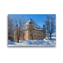 Premium Textil-Leinwand 45 x 30 cm Quer-Format Schöne Grüße aus Radstadt | Wandbild, HD-Bild auf Keilrahmen, Fertigbild auf hochwertigem Vlies, Leinwanddruck von Christa Kramer