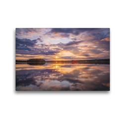 Premium Textil-Leinwand 45 x 30 cm Quer-Format Schwedischer Sommer in Värmland | Wandbild, HD-Bild auf Keilrahmen, Fertigbild auf hochwertigem Vlies, Leinwanddruck von Daniel Burdach