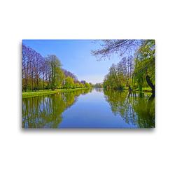 Premium Textil-Leinwand 45 x 30 cm Quer-Format See in den Wallanalgen – Gardelegen   Wandbild, HD-Bild auf Keilrahmen, Fertigbild auf hochwertigem Vlies, Leinwanddruck von Beate Bussenius