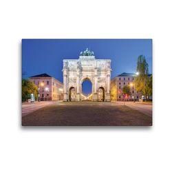 Premium Textil-Leinwand 45 x 30 cm Quer-Format Siegestor in München   Wandbild, HD-Bild auf Keilrahmen, Fertigbild auf hochwertigem Vlies, Leinwanddruck von Michael Valjak