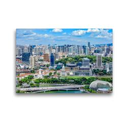 Premium Textil-Leinwand 45 x 30 cm Quer-Format Singapur – Asiatische Lifestyle Metropole | Wandbild, HD-Bild auf Keilrahmen, Fertigbild auf hochwertigem Vlies, Leinwanddruck von Dieter Meyer