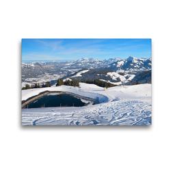 Premium Textil-Leinwand 45 x 30 cm Quer-Format Skigebiet Hartkaiser am Wilden Kaiser | Wandbild, HD-Bild auf Keilrahmen, Fertigbild auf hochwertigem Vlies, Leinwanddruck von SusaZoom