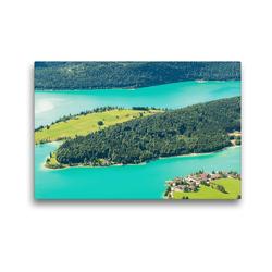 Premium Textil-Leinwand 45 x 30 cm Quer-Format Sommer am Walchensee | Wandbild, HD-Bild auf Keilrahmen, Fertigbild auf hochwertigem Vlies, Leinwanddruck von Martin Wasilewski