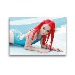 Premium Textil-Leinwand 45 x 30 cm Quer-Format Sommermädchen – Sexy Summer Girls | Wandbild, HD-Bild auf Keilrahmen, Fertigbild auf hochwertigem Vlies, Leinwanddruck von Andy Bulls