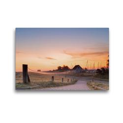 Premium Textil-Leinwand 45 x 30 cm Quer-Format Sonnenaufgang am Seglerhafen in Vitte | Wandbild, HD-Bild auf Keilrahmen, Fertigbild auf hochwertigem Vlies, Leinwanddruck von Stephan Schulz