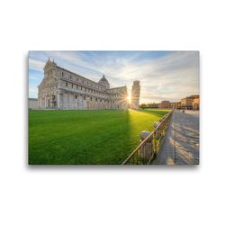 Premium Textil-Leinwand 45 x 30 cm Quer-Format Sonnenaufgang in Pisa | Wandbild, HD-Bild auf Keilrahmen, Fertigbild auf hochwertigem Vlies, Leinwanddruck von Michael Valjak