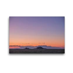 Premium Textil-Leinwand 45 x 30 cm Quer-Format Sonnenuntergang auf der Hallig Langeneß | Wandbild, HD-Bild auf Keilrahmen, Fertigbild auf hochwertigem Vlies, Leinwanddruck von Annett Mirsberger