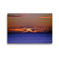 Premium Textil-Leinwand 45 x 30 cm Quer-Format Sonnenuntergang | Wandbild, HD-Bild auf Keilrahmen, Fertigbild auf hochwertigem Vlies, Leinwanddruck von Thomas Schroeder