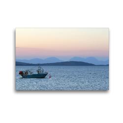 Premium Textil-Leinwand 45 x 30 cm Quer-Format Sound of Gigha, Schottland | Wandbild, HD-Bild auf Keilrahmen, Fertigbild auf hochwertigem Vlies, Leinwanddruck von Udo Haafke