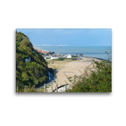 Premium Textil-Leinwand 45 x 30 cm Quer-Format St Margaret's Bay, Kent, England | Wandbild, HD-Bild auf Keilrahmen, Fertigbild auf hochwertigem Vlies, Leinwanddruck von Gisela Kruse