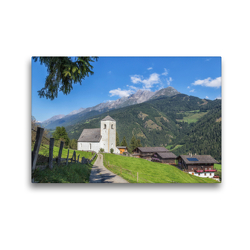 Premium Textil-Leinwand 45 x 30 cm Quer-Format St.Nikolaus bei Matrei   Wandbild, HD-Bild auf Keilrahmen, Fertigbild auf hochwertigem Vlies, Leinwanddruck von Axel Matthies