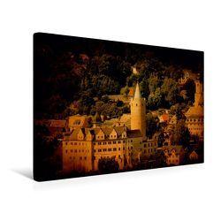 Premium Textil-Leinwand 45 x 30 cm Quer-Format Stadtansicht Zschopau | Wandbild, HD-Bild auf Keilrahmen, Fertigbild auf hochwertigem Vlies, Leinwanddruck von Heike Hultsch