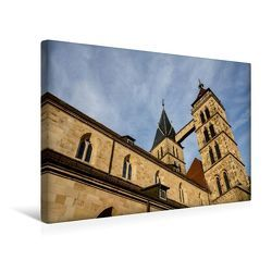 Premium Textil-Leinwand 45 x 30 cm Quer-Format Stadtkirche St. Dionys (Esslingen am Neckar) | Wandbild, HD-Bild auf Keilrahmen, Fertigbild auf hochwertigem Vlies, Leinwanddruck von Horst Eisele