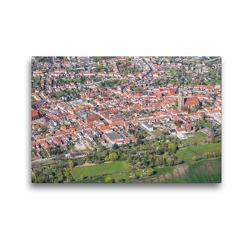 Premium Textil-Leinwand 45 x 30 cm Quer-Format Stadtzentrum Jüterbog (Luftbild) | Wandbild, HD-Bild auf Keilrahmen, Fertigbild auf hochwertigem Vlies, Leinwanddruck von Mario Hagen