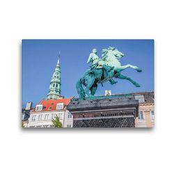 Premium Textil-Leinwand 45 x 30 cm Quer-Format Statue von Absalon auf dem Hojbro Platz   Wandbild, HD-Bild auf Keilrahmen, Fertigbild auf hochwertigem Vlies, Leinwanddruck von Christian Müringer