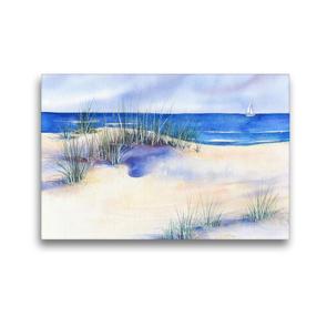 Premium Textil-Leinwand 45 x 30 cm Quer-Format Strand   Wandbild, HD-Bild auf Keilrahmen, Fertigbild auf hochwertigem Vlies, Leinwanddruck von Jitka Krause