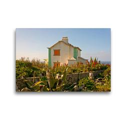 Premium Textil-Leinwand 45 x 30 cm Quer-Format Strandhaus Atlantik | Wandbild, HD-Bild auf Keilrahmen, Fertigbild auf hochwertigem Vlies, Leinwanddruck von Georg Arnold