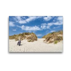 Premium Textil-Leinwand 45 x 30 cm Quer-Format Strandweg | Wandbild, HD-Bild auf Keilrahmen, Fertigbild auf hochwertigem Vlies, Leinwanddruck von Andreas Klesse