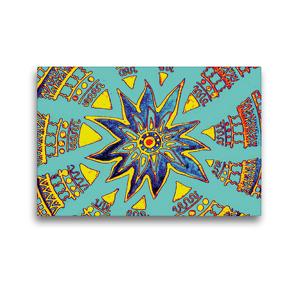 Premium Textil-Leinwand 45 x 30 cm Quer-Format Supernova | Wandbild, HD-Bild auf Keilrahmen, Fertigbild auf hochwertigem Vlies, Leinwanddruck von EigenART