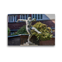 Premium Textil-Leinwand 45 x 30 cm Quer-Format Tänzerin, Bronzeplastik von Otto Hofner 1930, Rabenhof, Wien Landstraße | Wandbild, HD-Bild auf Keilrahmen, Fertigbild auf hochwertigem Vlies, Leinwanddruck von Werner Braun