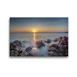 Premium Textil-Leinwand 45 x 30 cm Quer-Format Traumhafter Sonnenaufgang in Fautea   Wandbild, HD-Bild auf Keilrahmen, Fertigbild auf hochwertigem Vlies, Leinwanddruck von Tom Czermak