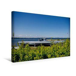 Premium Textil-Leinwand 45 x 30 cm Quer-Format U-Boot von Laboe | Wandbild, HD-Bild auf Keilrahmen, Fertigbild auf hochwertigem Vlies, Leinwanddruck von Tanja Riedel von Riedel,  Tanja