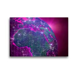Premium Textil-Leinwand 45 x 30 cm Quer-Format Unsere bunte Welt   Wandbild, HD-Bild auf Keilrahmen, Fertigbild auf hochwertigem Vlies, Leinwanddruck von Martina Kröger