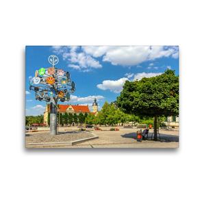 Premium Textil-Leinwand 45 x 30 cm Quer-Format Unterwegs in Riesa | Wandbild, HD-Bild auf Keilrahmen, Fertigbild auf hochwertigem Vlies, Leinwanddruck von Birgit Seifert