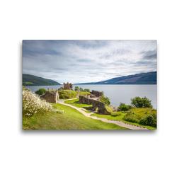 Premium Textil-Leinwand 45 x 30 cm Quer-Format Urquhart Castle, Loch Ness   Wandbild, HD-Bild auf Keilrahmen, Fertigbild auf hochwertigem Vlies, Leinwanddruck von Harald Schnitzler