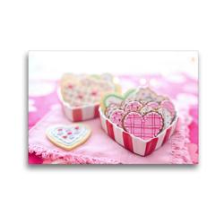 Premium Textil-Leinwand 45 x 30 cm Quer-Format Valentinsherzen müssen sein! | Wandbild, HD-Bild auf Keilrahmen, Fertigbild auf hochwertigem Vlies, Leinwanddruck von Rose Hurley
