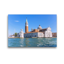 Premium Textil-Leinwand 45 x 30 cm Quer-Format Venedig, Basilica San Giorgio Maggiore | Wandbild, HD-Bild auf Keilrahmen, Fertigbild auf hochwertigem Vlies, Leinwanddruck von Hanna Wagner