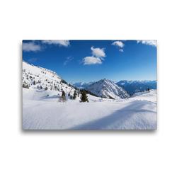 Premium Textil-Leinwand 45 x 30 cm Quer-Format verschneite Winterlandschaft Rofan in Tirol | Wandbild, HD-Bild auf Keilrahmen, Fertigbild auf hochwertigem Vlies, Leinwanddruck von SusaZoom