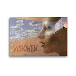 Premium Textil-Leinwand 45 x 30 cm Quer-Format Visionen   Wandbild, HD-Bild auf Keilrahmen, Fertigbild auf hochwertigem Vlies, Leinwanddruck von H.T.Manfred Zimmermann