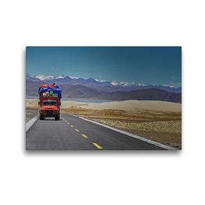 Premium Textil-Leinwand 45 x 30 cm Quer-Format Von der Kailash Region führt eine unendlich lange Straße nach Westen zum alten Königreich Guge   Wandbild, HD-Bild auf Keilrahmen, Fertigbild auf hochwertigem Vlies, Leinwanddruck von Gerhard Horter
