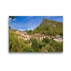 Premium Textil-Leinwand 45 x 30 cm Quer-Format Wallfahrtsort Saint-Guilhelm-le-Désert, Okzitanien | Wandbild, HD-Bild auf Keilrahmen, Fertigbild auf hochwertigem Vlies, Leinwanddruck von N N