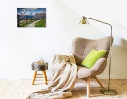 Premium Textil-Leinwand 45 x 30 cm Quer-Format Wandern, durch gigantische Natur   Wandbild, HD-Bild auf Keilrahmen, Fertigbild auf hochwertigem Vlies, Leinwanddruck von Peter Roder