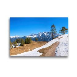 Premium Textil-Leinwand 45 x 30 cm Quer-Format Wanderweg am Kranzberg | Wandbild, HD-Bild auf Keilrahmen, Fertigbild auf hochwertigem Vlies, Leinwanddruck von SusaZoom