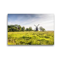 Premium Textil-Leinwand 45 x 30 cm Quer-Format Wasserschöpfmühle Wynhamsterkolk | Wandbild, HD-Bild auf Keilrahmen, Fertigbild auf hochwertigem Vlies, Leinwanddruck von Conny Pokorny