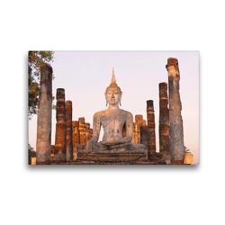 Premium Textil-Leinwand 45 x 30 cm Quer-Format Wat Mahathat, Sukhothai Historical Park, Thailand | Wandbild, HD-Bild auf Keilrahmen, Fertigbild auf hochwertigem Vlies, Leinwanddruck von Christian Heeb