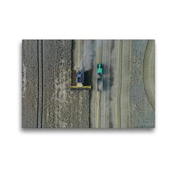 Premium Textil-Leinwand 45 x 30 cm Quer-Format Weizenernte, 100 Meter über Grund   Wandbild, HD-Bild auf Keilrahmen, Fertigbild auf hochwertigem Vlies, Leinwanddruck von Andreas Schuster/AS-Flycam-Kiel