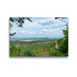 Premium Textil-Leinwand 45 x 30 cm Quer-Format Wie der Fels in der Landschaft | Wandbild, HD-Bild auf Keilrahmen, Fertigbild auf hochwertigem Vlies, Leinwanddruck von Fotografin Renate