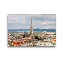 Premium Textil-Leinwand 45 x 30 cm Quer-Format WIEN von oben | Wandbild, HD-Bild auf Keilrahmen, Fertigbild auf hochwertigem Vlies, Leinwanddruck von ViennaFrame