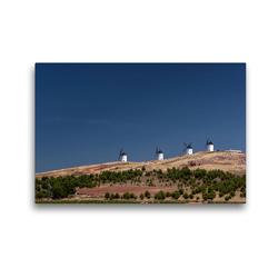 Premium Textil-Leinwand 45 x 30 cm Quer-Format Windmühlen in La Mancha   Wandbild, HD-Bild auf Keilrahmen, Fertigbild auf hochwertigem Vlies, Leinwanddruck von Andreas Schön